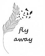 Fly Away Print by Jennifer Kimberly
