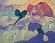 Cool Pastels Prints - Fly By Print by Becky Roesler