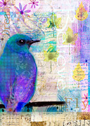 Digital Media Paintings - Fly Dream Believe by Robin Mead