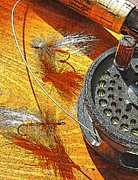 Anger Digital Art - Fly Fishermans Table Digital Art by A Gurmankin