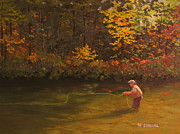 Patrick ODriscoll - Fly Fishing Art Autumn...