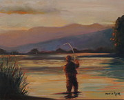 Fly Fishing Print by Desiree  Rose