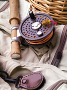Fly Fisherman Posters - Fly Fishing Still Life Poster by Edward Fielding