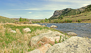 Fly Fisherman Prints - Fly Fishing Stillwater River Montana Print by Jennie Marie Schell