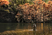 Tamyra Ayles Metal Prints - Fly Fishing Metal Print by Tamyra Ayles