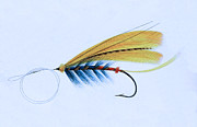 Fly Fishing Mixed Media Prints - Fly Fishing - The Shannon Fly Print by Charles Ross