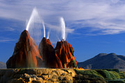 Gushing Water Framed Prints - Fly Geyser 1 Framed Print by Bob Christopher