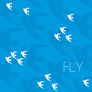 Blue Digital Art - Fly by Khristian Howell