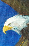 Strength Painting Posters - Fly Like the Eagle Poster by Jane  See