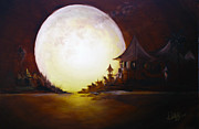 Kinkade Prints - Fly Me to the Moon Print by David Kacey
