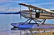 Seaplane Prints - Fly Me to the Mountain Print by Benjamin Yeager