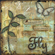 Courage Mixed Media Metal Prints - Fly Metal Print by Shawn Petite