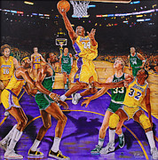 Magic Johnson Paintings - Fly With Me by Johnson Lo