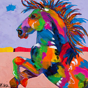 Horses In Art Posters - Flyin Hooves II Poster by Tracy Miller