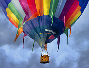 Hot Air Balloon Digital Art Prints - Flyin the Coop II Print by East Coast Barrier Islands Betsy A Cutler