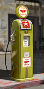 Strong Vertical Images Prints - Flying A Gasoline - National Gas Pump Print by Mike McGlothlen