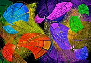 Decorative Abstract Digital Art Prints - Flying Colors Print by Gwyn Newcombe