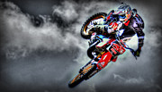 Supercross Framed Prints - Flying Framed Print by Craig Incardone