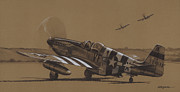 Fighter Drawings - Flying Dutchman by Wade Meyers