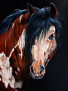 Mustang Paintings - Flying Eagle by Rose Collins