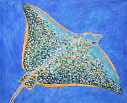 Scuba Paintings - Flying fish. by Agnieszka Praxmayer