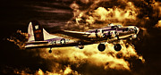 Ww Ii Framed Prints - Flying Fortress B-17 Aluminum Overcast Framed Print by F Leblanc