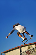 Sports Art Photo Metal Prints - Flying High - Action Metal Print by Kaye Menner