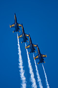Blue Angels Framed Prints - Flying High Framed Print by Adam Romanowicz