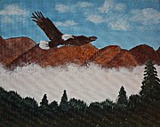 American Eagle Paintings - Flying High by Barbara Griffin