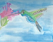 Autism Art Posters - Flying Hummingbird  Poster by Epic Luis Art