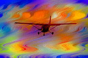Photo Manipulation Mixed Media Posters - Flying Into A Rainbow Poster by EricaMaxine  Price