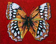 Butterfly Tapestries - Textiles Metal Prints - Flying Into Heaven Metal Print by Daniel Jean-Baptiste