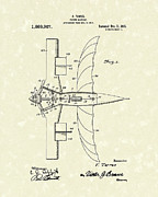 Early Drawings Posters - Flying Machine 1918 Patent Art Poster by Prior Art Design