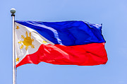 Asien Prints - Flying National Flag Of The Philippines Over Rizal Park Manila Print by Colin Utz
