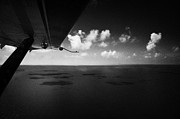 Floatplane Prints - Flying Over The Gulf Of Mexico Open Water Near The Florida Keys Usa Print by Joe Fox