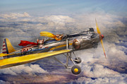 Clouds Prints - Flying Pig - Plane - The joy ride Print by Mike Savad
