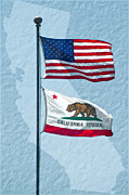 Californian Photos - Flying Proud by Gwyn Newcombe