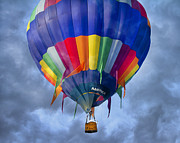 Hot Air Balloon Digital Art Prints - Flying the Coop Print by East Coast Barrier Islands Betsy A Cutler