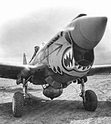 Japanese Fighter Posters - FLYING TIGERS CURTISS P-40 WARHAWK c. 1942 Poster by Daniel Hagerman