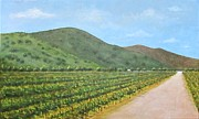 Winery Paintings - Flying to the Winery by Jeanie Watson