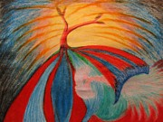 Clay Pastels - Flying Tree by Melody Cook