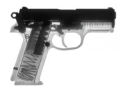 357 Photos - FN P9A Hand Gun X-Ray Print by Ray Gunz