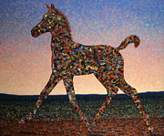 Sunrise Paintings - Foal Spirit by James W Johnson