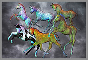 Paint Foal Metal Prints - Foals Paradise Metal Print by Betsy A Cutler East Coast Barrier Islands