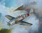 Interceptor Framed Prints - Focke Wulf FW-190 Framed Print by Stuart Swartz