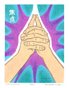 Budhist Prints - Focus - Mudra Mandala Print by Carrie MaKenna