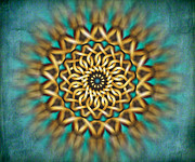 Mandala Prints - Focus Point Print by Bedros Awak