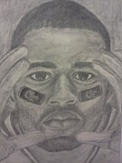 Athletes Drawings - Focused on the Game by Christy Brammer