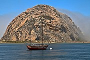 Morro Bay Photos - Fog At Morro Bay by Adam Jewell
