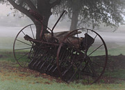 Drawn Photo Prints - Fog At The Farm Print by Robert Frederick